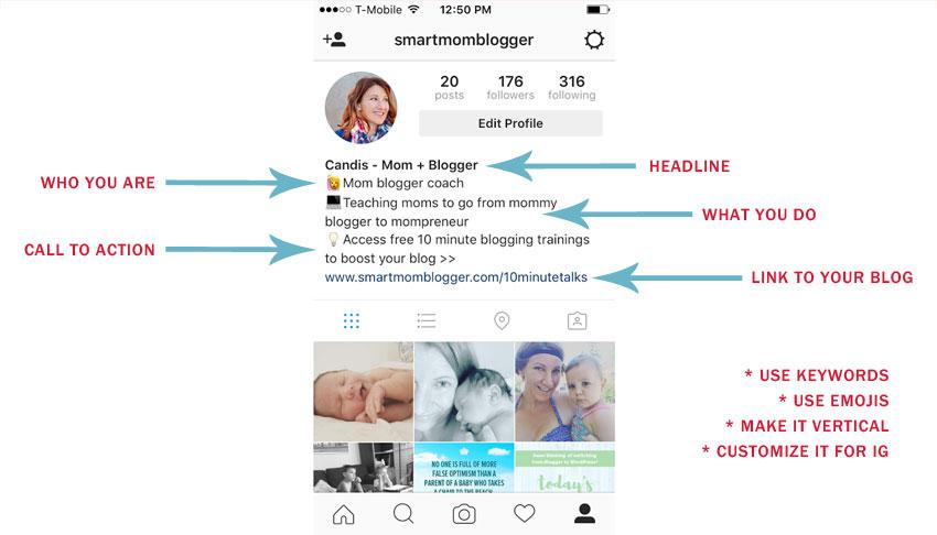 instagram bio template