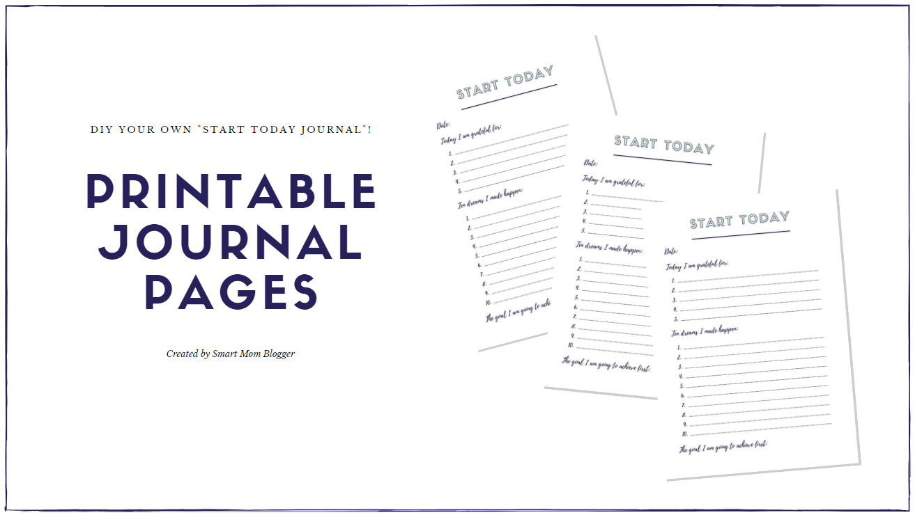graphic about Printable Journal Pages Pdf named The Start off These days Magazine by way of Rachel Hollis Evaluation - Good Mother