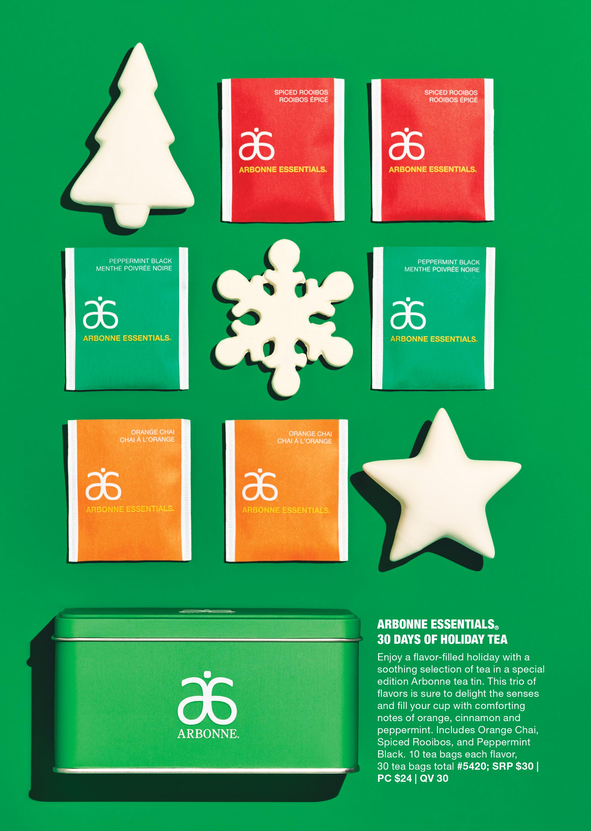 arbonne 30 days of holiday tea