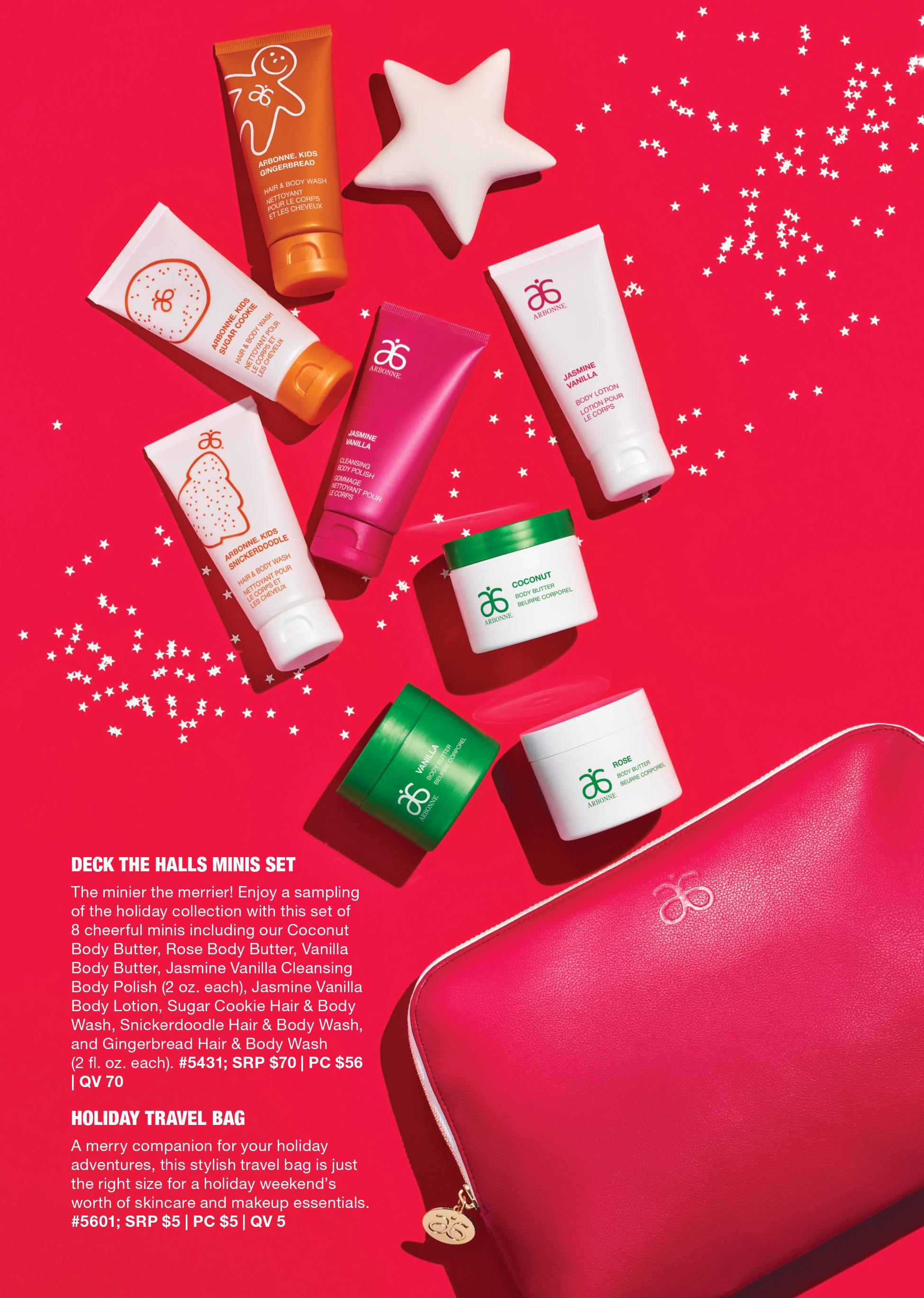 arbonne deck the halls mini set