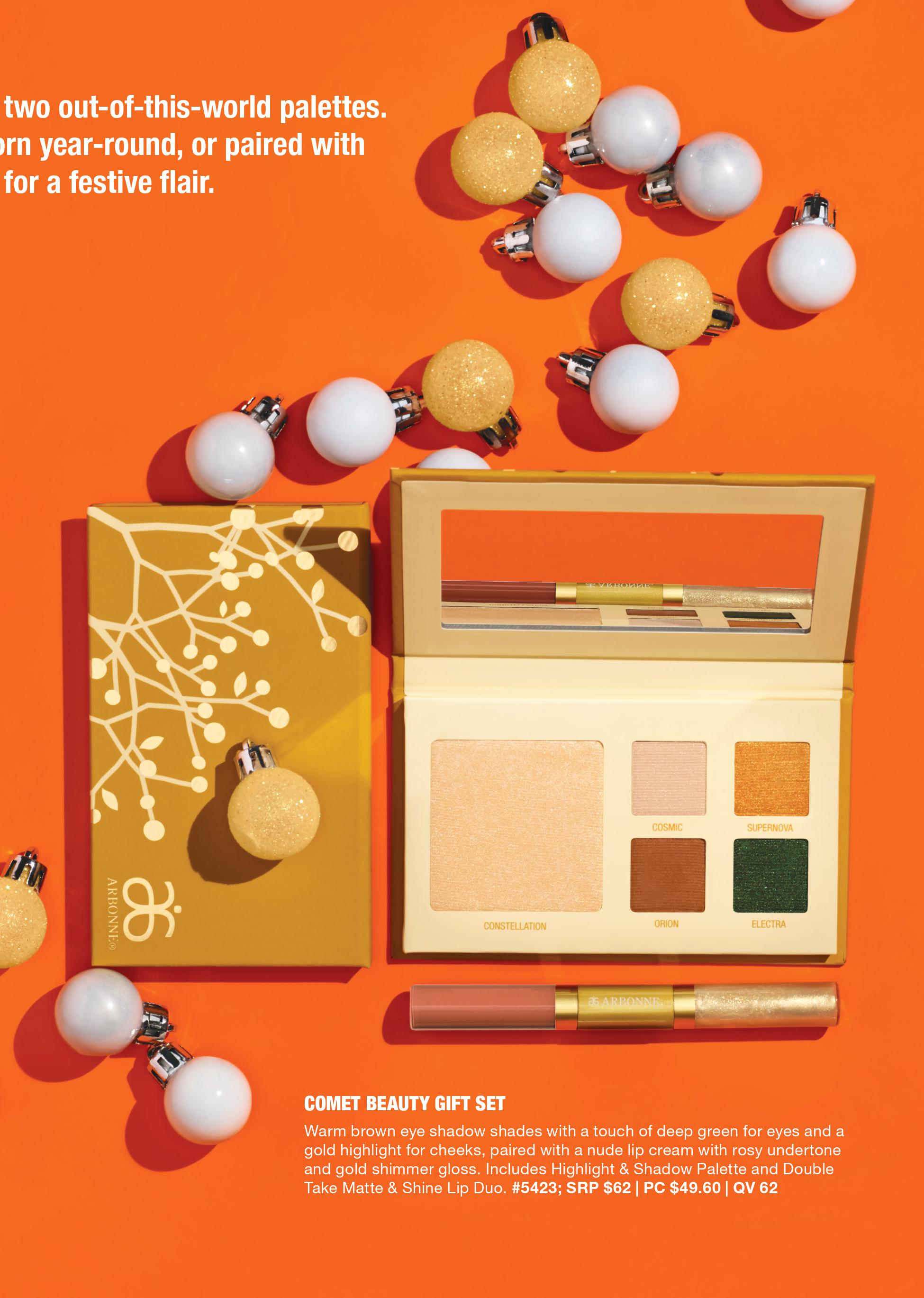 arbonne holiday comet eye shadow makeup