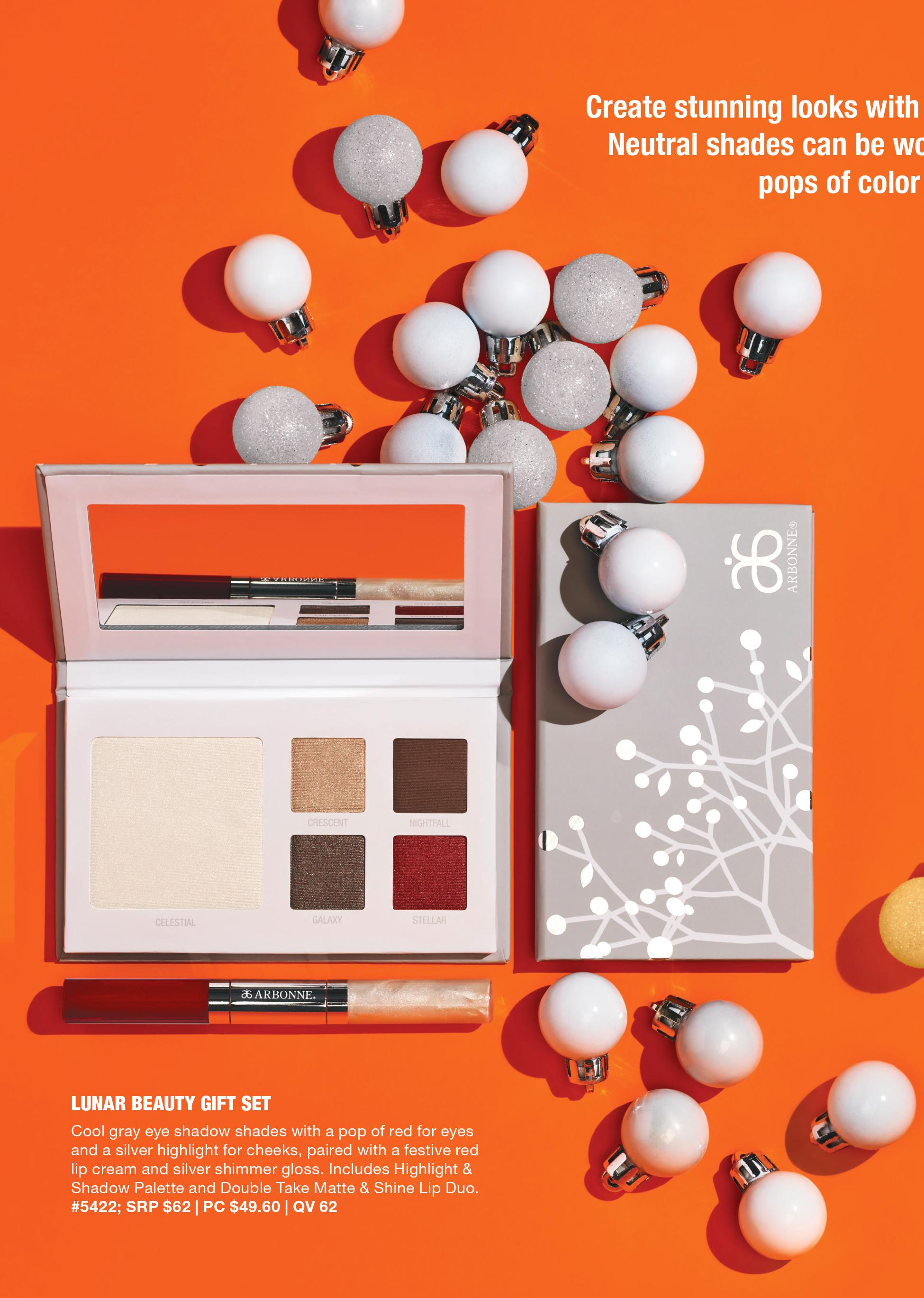 arbonne holiday lunar eye shadow makeup