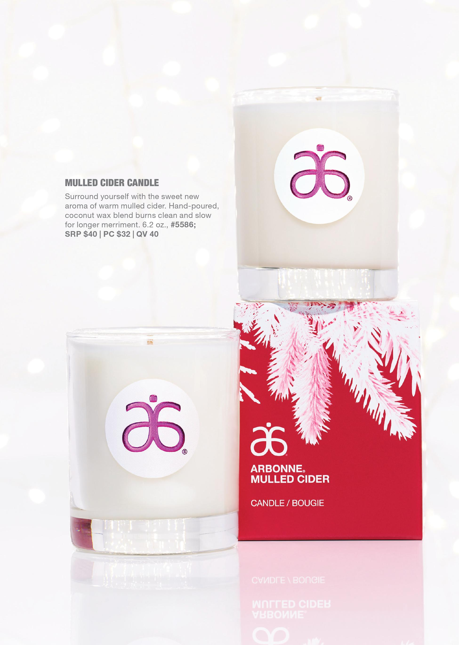 arbonne holiday mulled cider candle