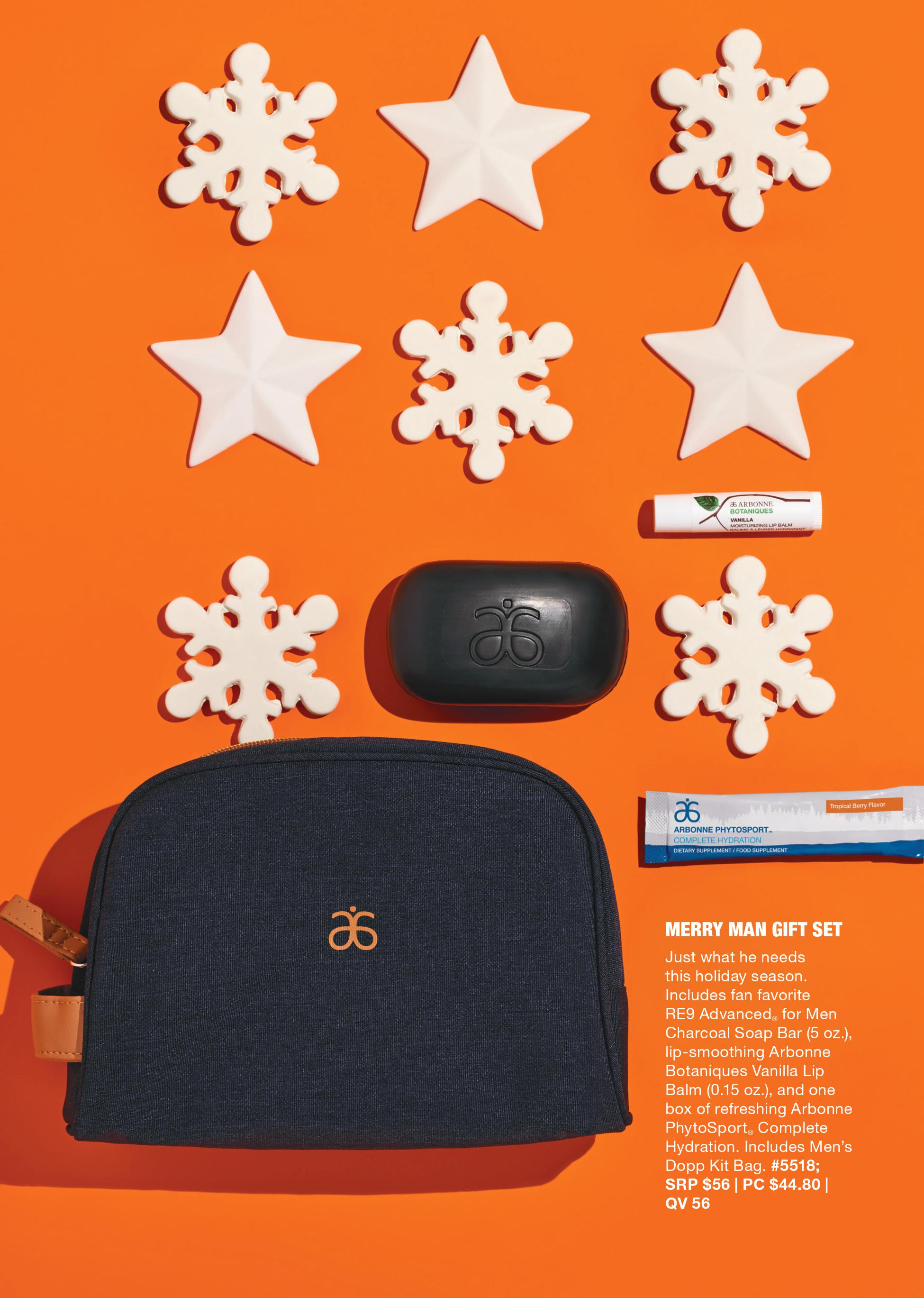 arbonne merry man gift set