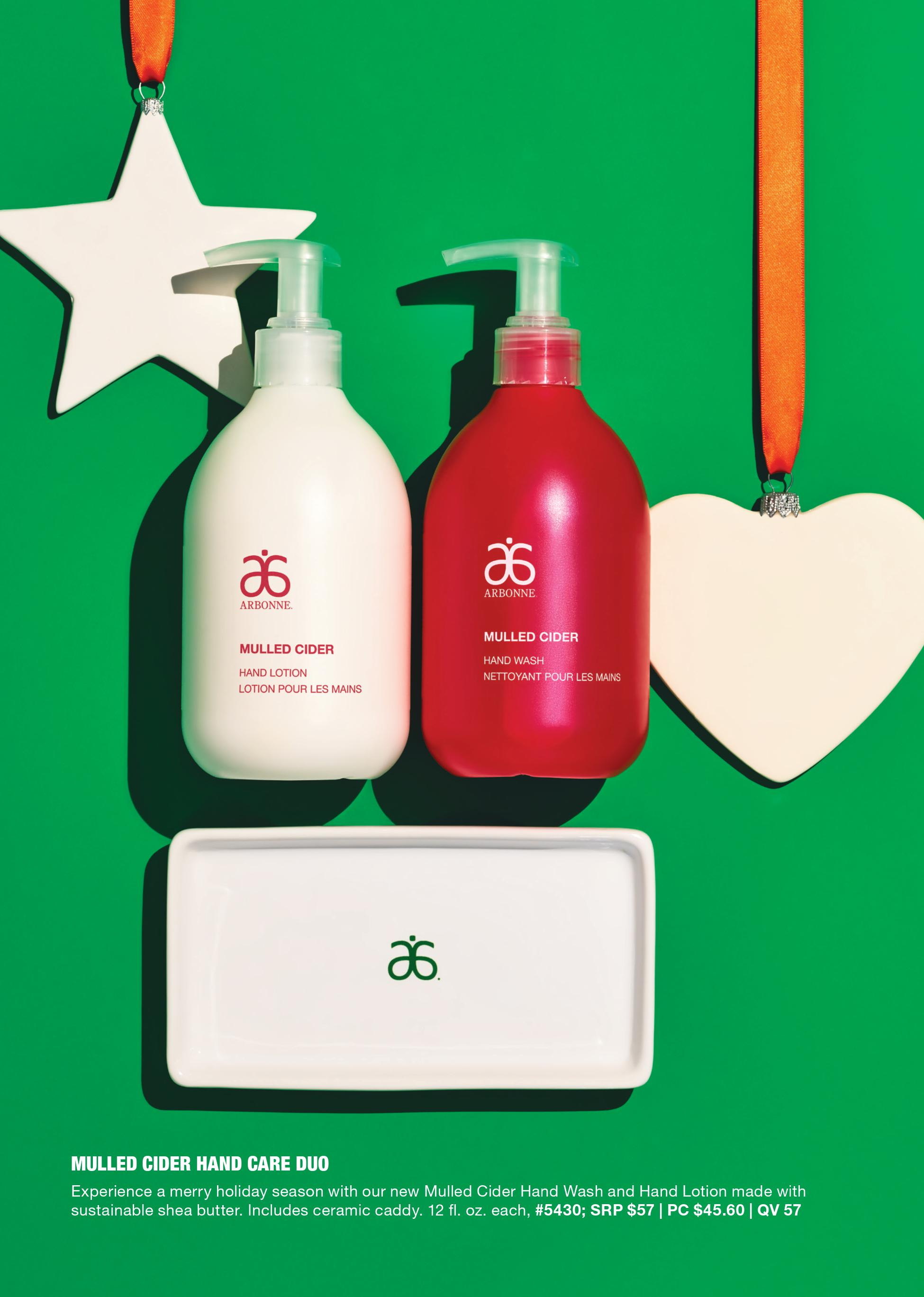 arbonne mulled cider hand care duo