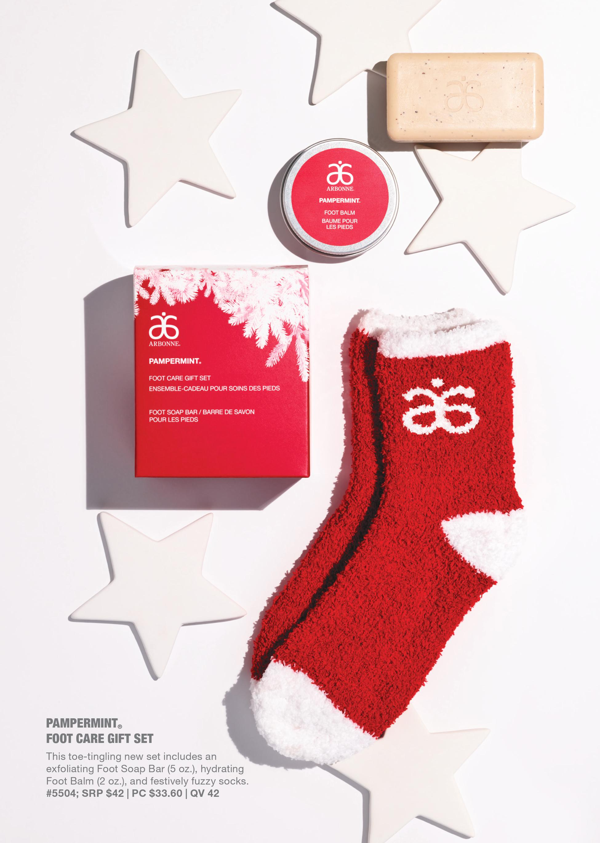 arbonne peppermint foot care set holiday
